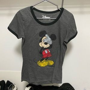 Disney Shy Mickey Mouse women's t-shirt